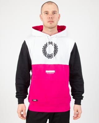 Bluza Hoodie Mass Calgary White-Pink