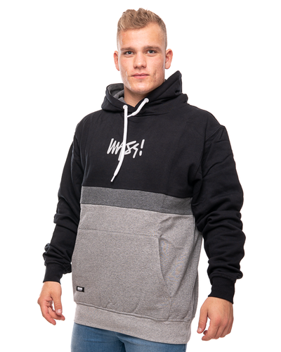 Bluza Hoodie Mass Parts Black-Grey
