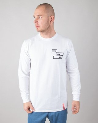 Longsleeve Alkopoligamia Loveyourlife Goodtrip White