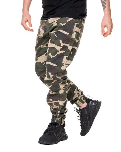 Spodnie Chino Jogger Mass Base Ciemne Moro
