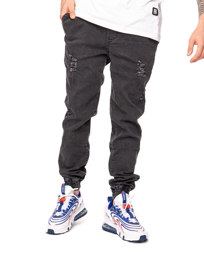 Spodnie Diamante Wear Jeans Jogger Rm Ripped Black