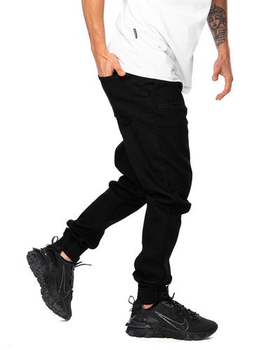 Spodnie Jeans Jogger Slim El Polako Back Classic Czarne