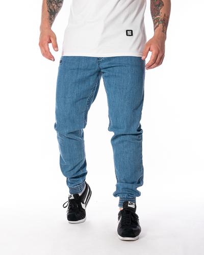 Spodnie Jeans Jogger Slim El Polako Front Classic Jasnoniebieskie
