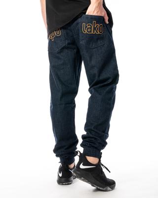 Spodnie Jeans Jogger Slim El Polako Me Elpo Ciemnoniebieskie