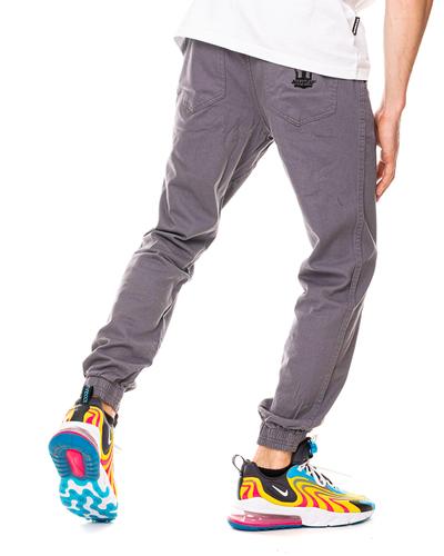 Spodnie Materiałowe Jogger Jigga Wear Crown Szare / Czarne