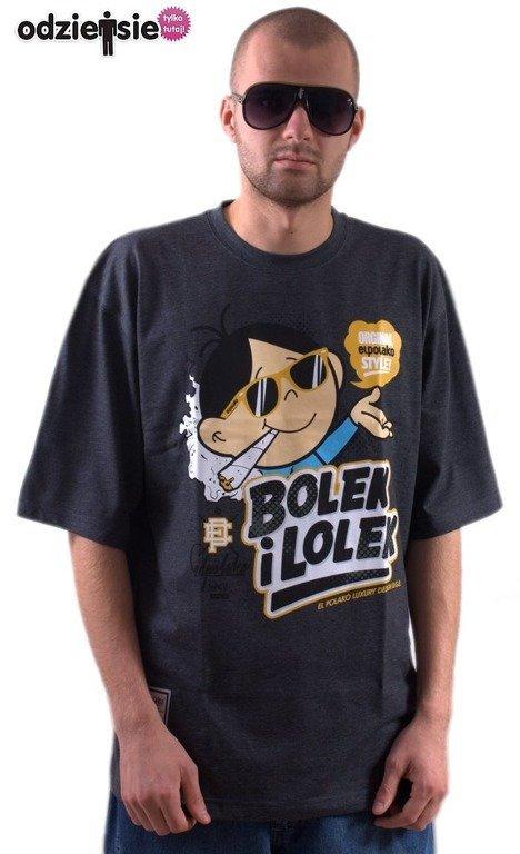 sportowa odzież sportowa sprzedaje zawsze popularny EL POLAKO KOSZULKA BOLEK I LOLEK GREY