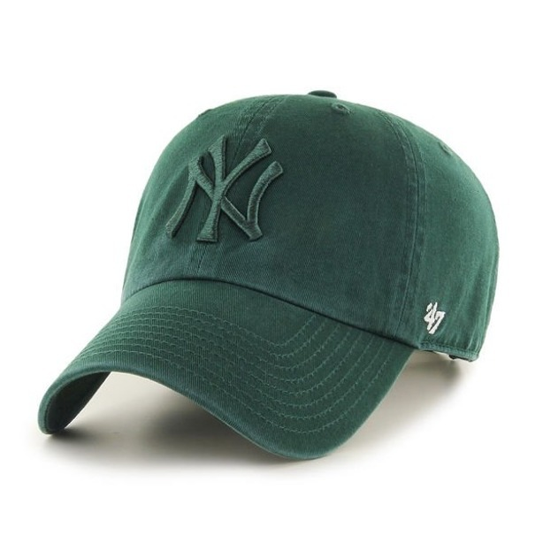 47 BRAND CAP MLB NEW YORK YANKEES CLEAN UP GREEN