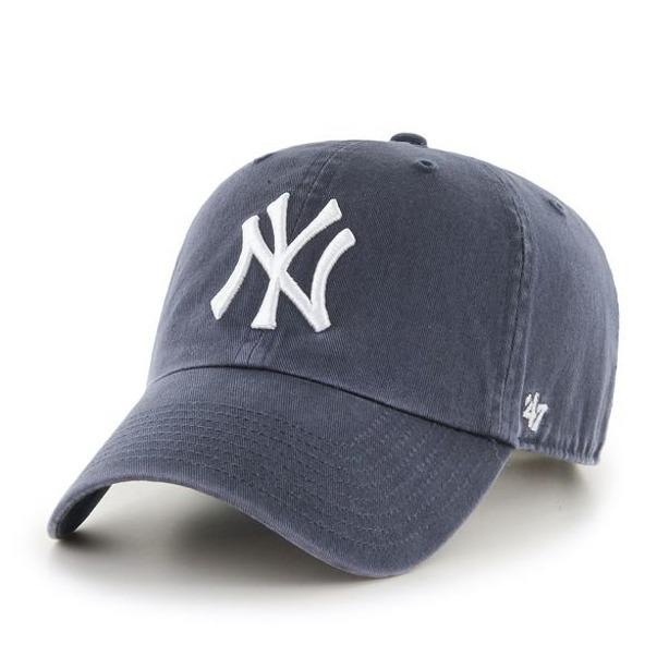 47 BRAND CAP MLB NEW YORK YANKEES CLEAN UP NAVY