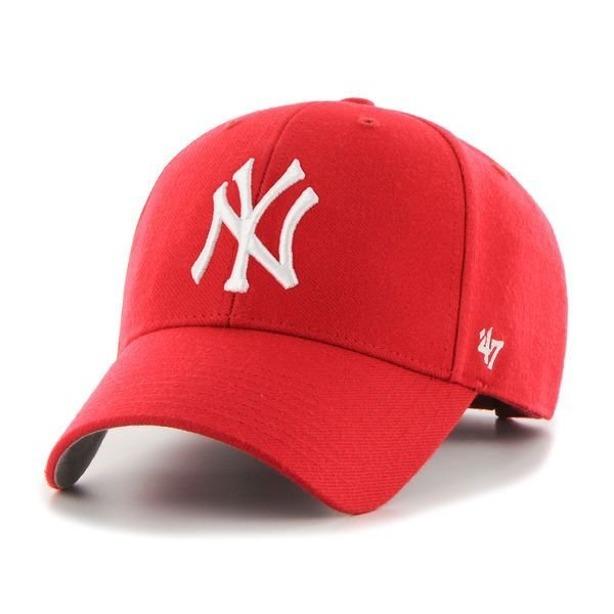 47 BRAND CAP MLB NEW YORK YANKEES RED