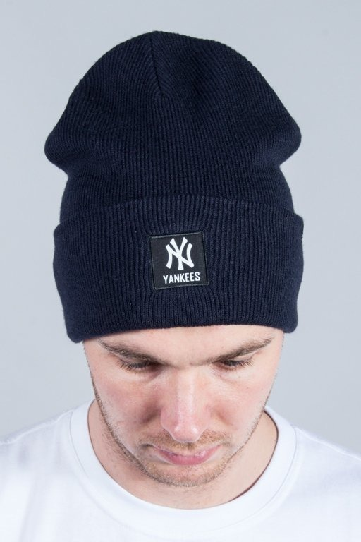 47 BRAND WINTER CAP MLB NEW YORK YANKEES PORTBURY CUFF KNIT NAVY