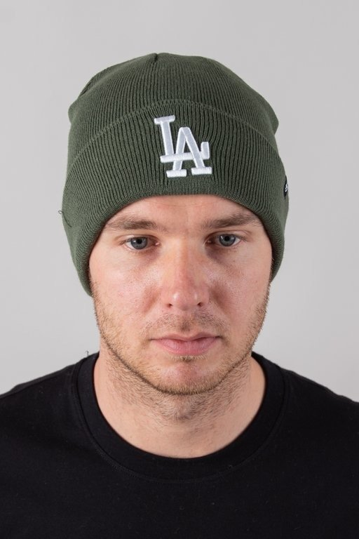 47 BRAND WINTER CAP RAISED CUFF LOS ANGELES DODGERS GREEN-WHITE