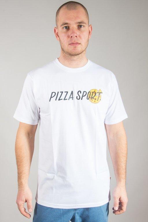 Alkopoligamia Koszulka T-shirt Pizza Sport White