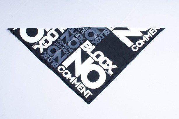 BLOCX BANDANA NO COMMENT BLACK