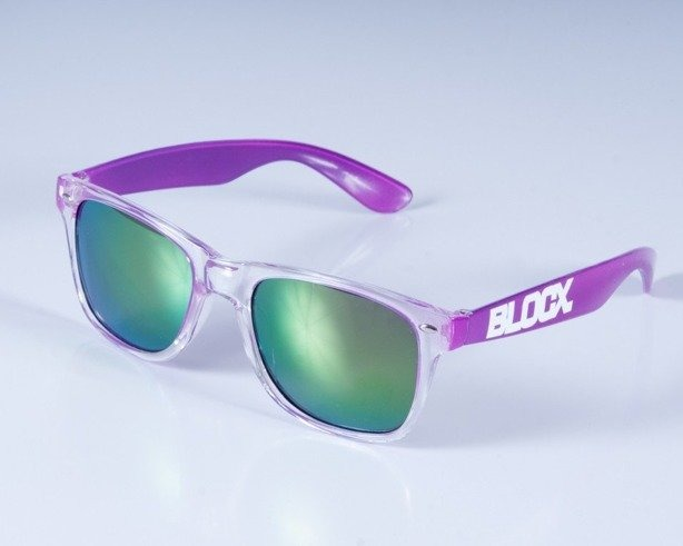 BLOCX OKULARY CLEAR X PURPLE