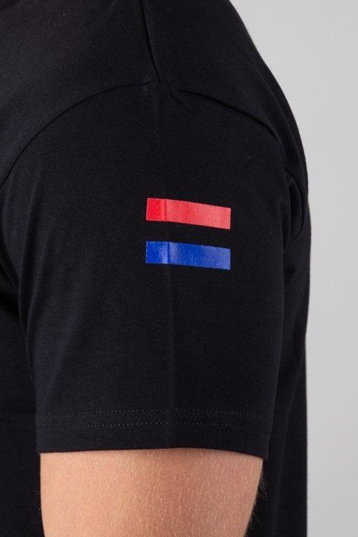 BOR T-SHIRT FLAGA BLACK