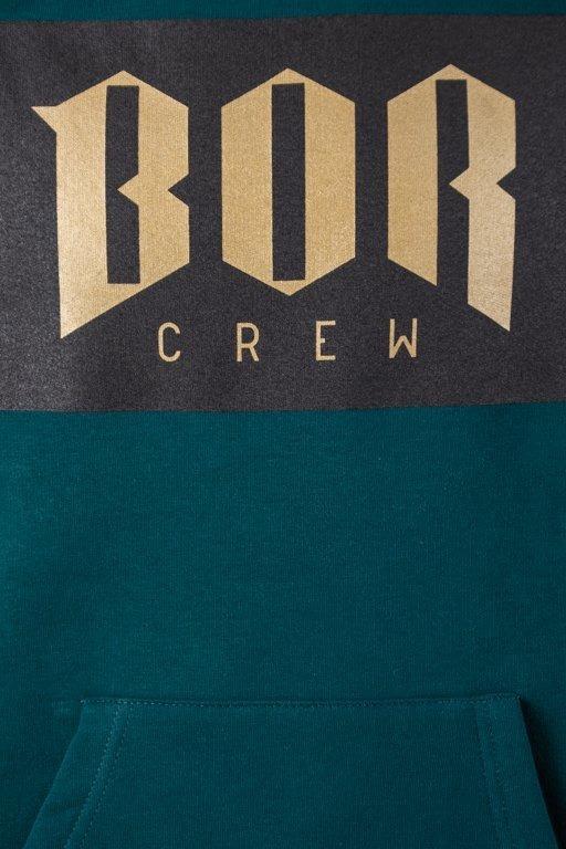 Bluza Bor Hoodie Reglan Green-Black