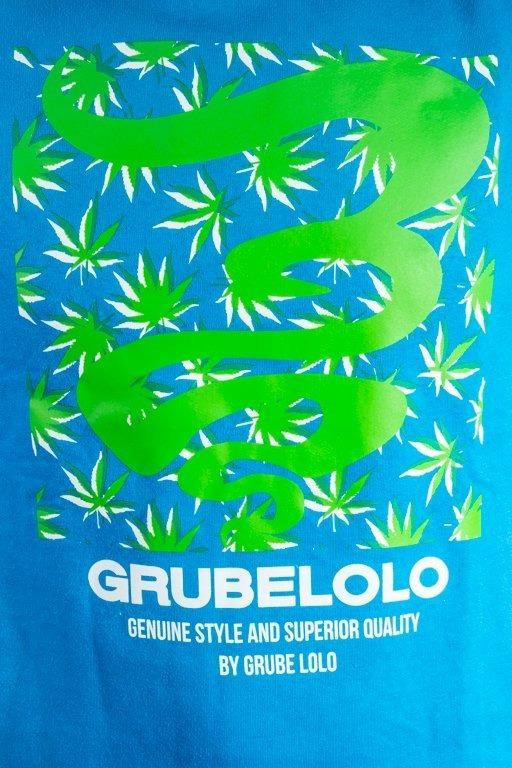 Bluza Grube Lolo Logo Full Ganja  Light Blue