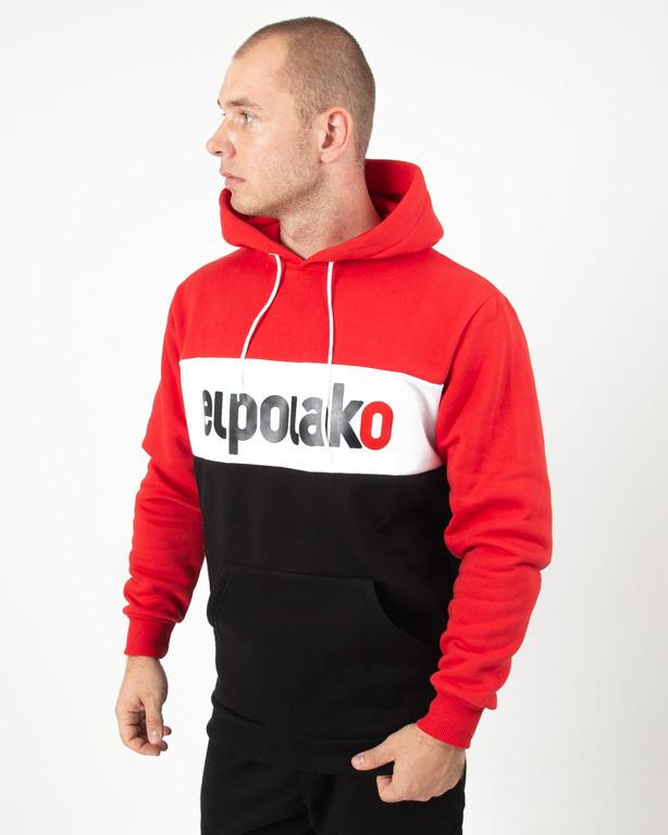 Bluza Hoodie El Polako Elpo New Red-Black