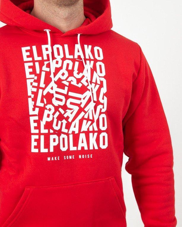 Bluza Hoodie El Polako Noise Red
