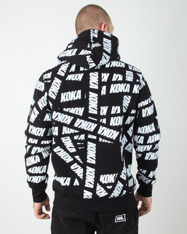 Bluza Hoodie Koka Tape Black