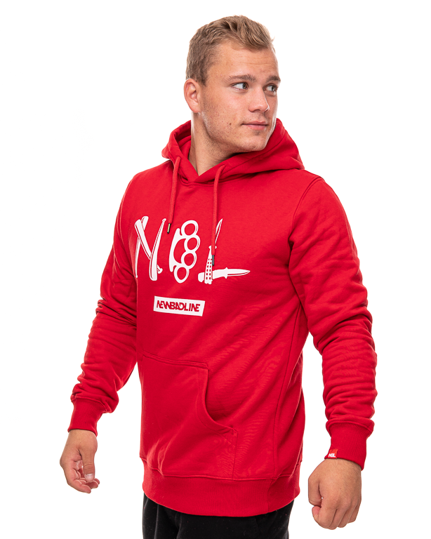 Bluza Hoodie New Bad Line Crime Red
