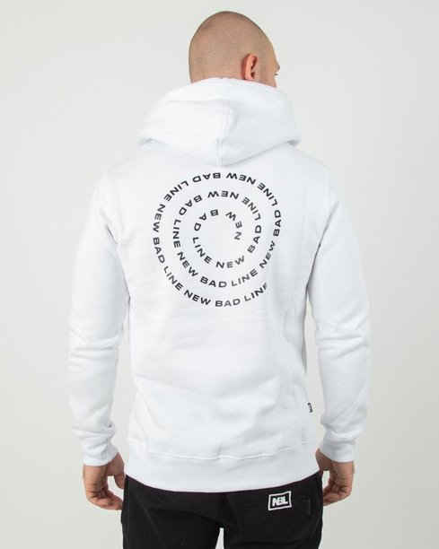 Bluza Hoodie New Bad Line Spiral White
