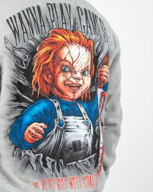 Bluza Hoodie Pitbull  Chucky Grey