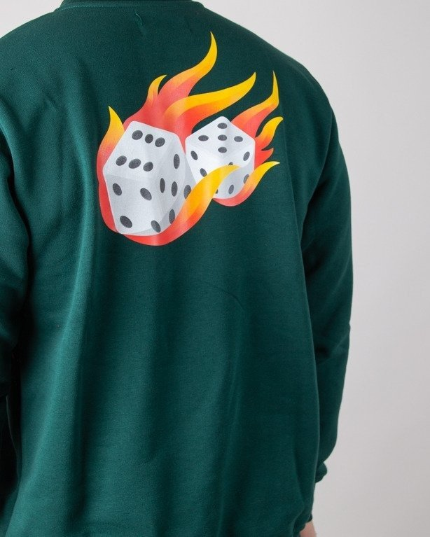 Bluza Lucky Dice Fire Dice Green