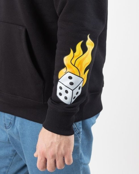 Bluza Lucky Dice Hoodie Fire Black