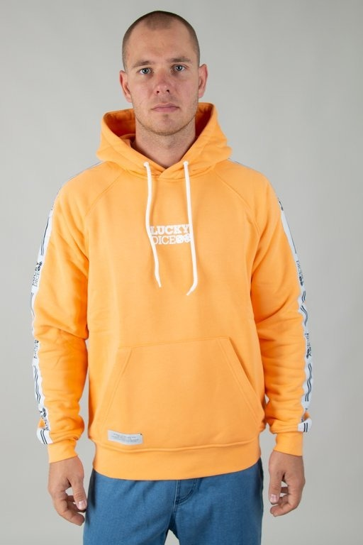 Bluza Lucky Dice Hoodie Tape Logo Orange
