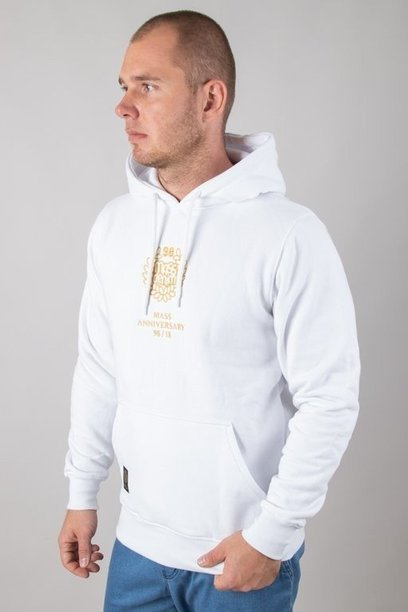 Bluza Mass Hoodie Golden Crown White