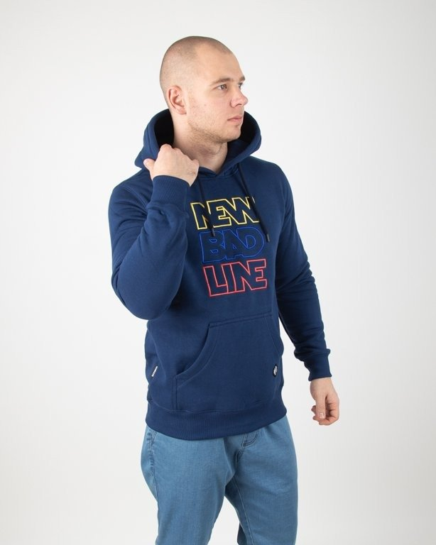 Bluza New Bad Line Hoodie Outline Navy