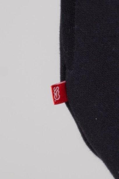 Bluza SSG Hoodie Cut Front Back Melange-Black