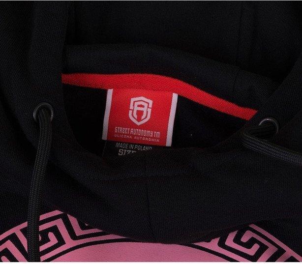 Bluza Street Autonomy Hoodie Damska Medusa Black-Pink