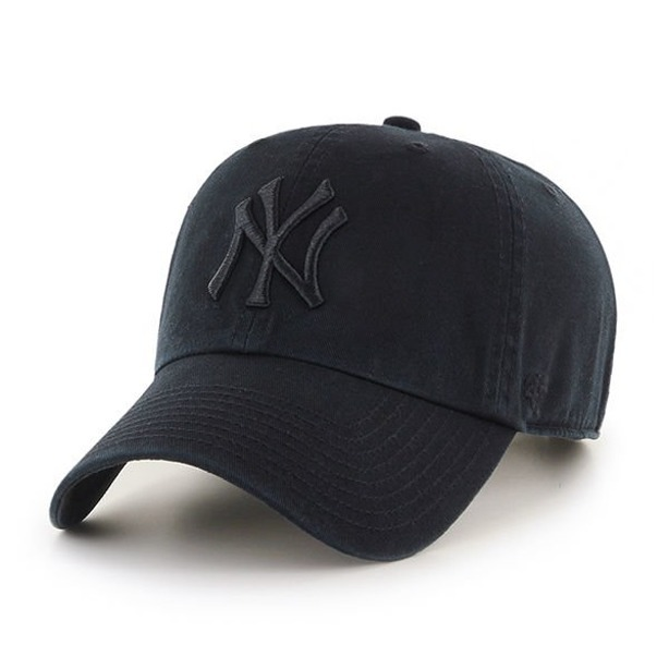 Czapka 47 Brand Clean Up New York Yankees Black-Black