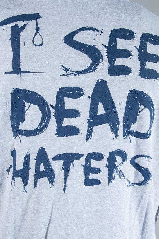 DIAMANTE WEAR HOODIE ZIP I SEE DEAD HATERS GREY