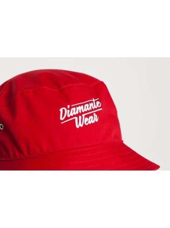 DIAMANTE WEAR KAPELUSZ CLASSIC BUCKET RED