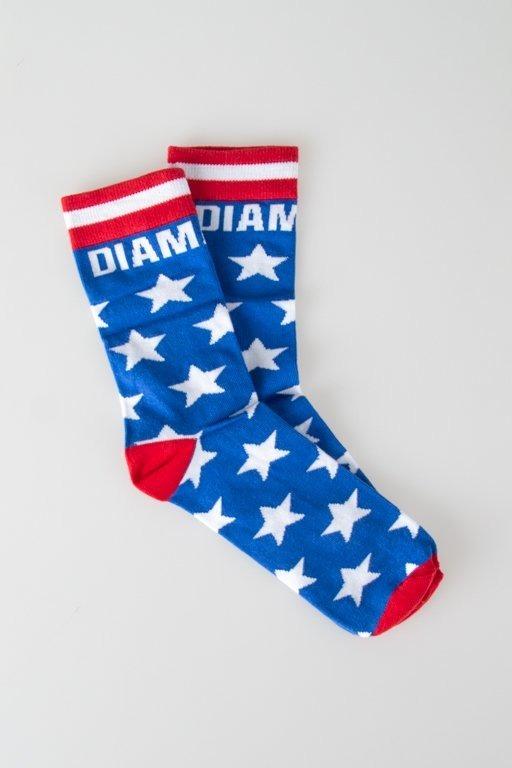 DIAMANTE WEAR SOCKS LONG AMERIKKA BLUE