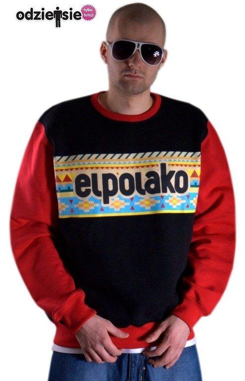 EL POLAKO BLUZA BEZ KAPTURA AZTEC BLACK