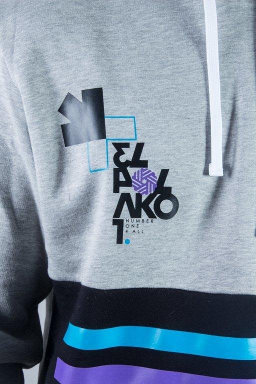 El Polako Bluza Z Kapturem Number Melange