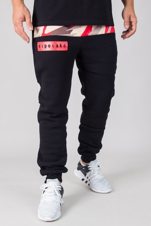 EL POLAKO SWEATPANTS FIT HALF TRIANGLE MORO RED