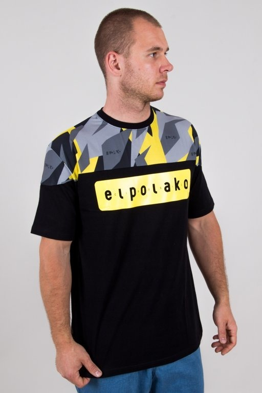 EL POLAKO T-SHIRT HALF TRIANGLE MORO YELLOW