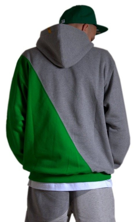 ELADE BLUZA Z KAPTUREM UNION GREY-GREEN