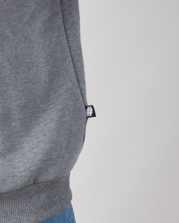 Illegal Bluza Bez Kaptura 3 Color Grey
