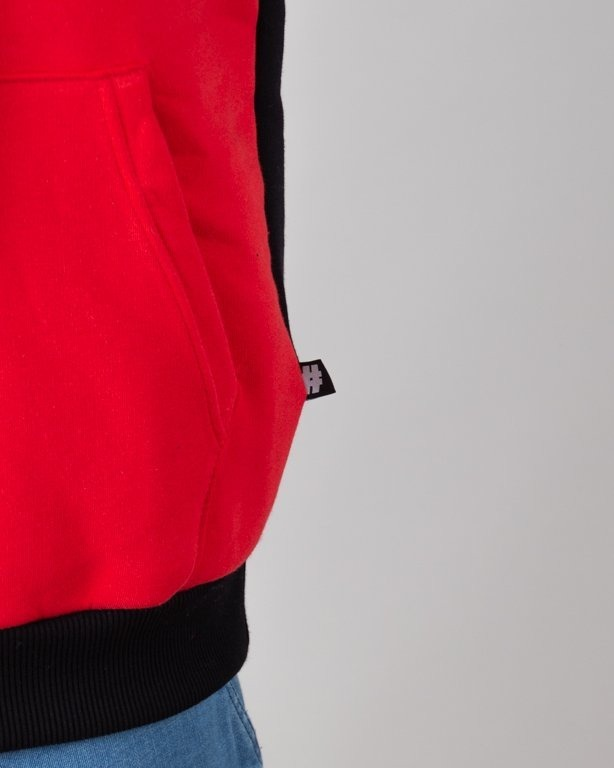 Illegal Bluza Z Kapturem Classic Black-Red