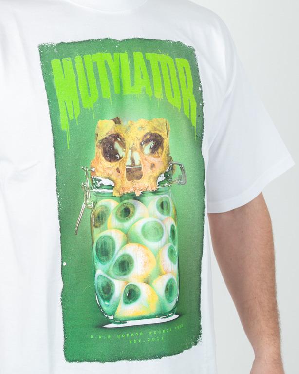 Koszulka Brain Dead Familia Mutylator White