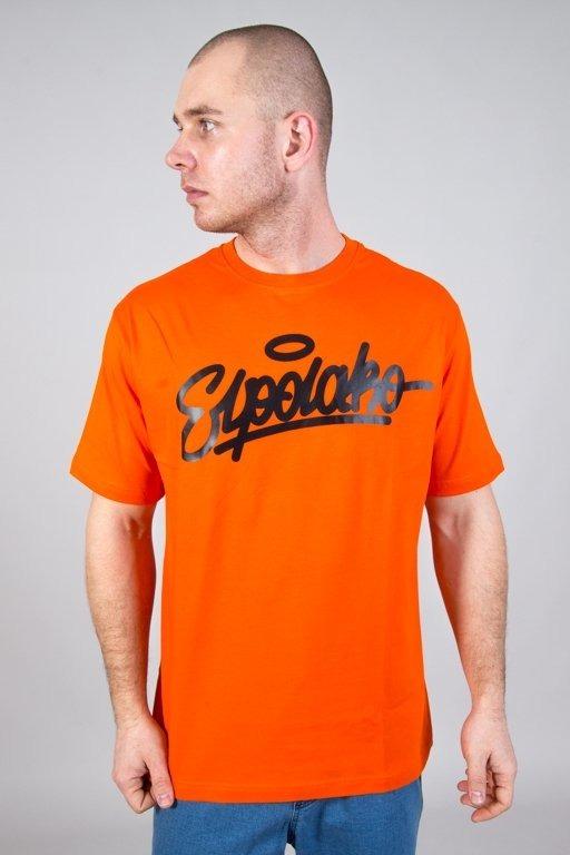 Koszulka El Polako Handwritten Orange