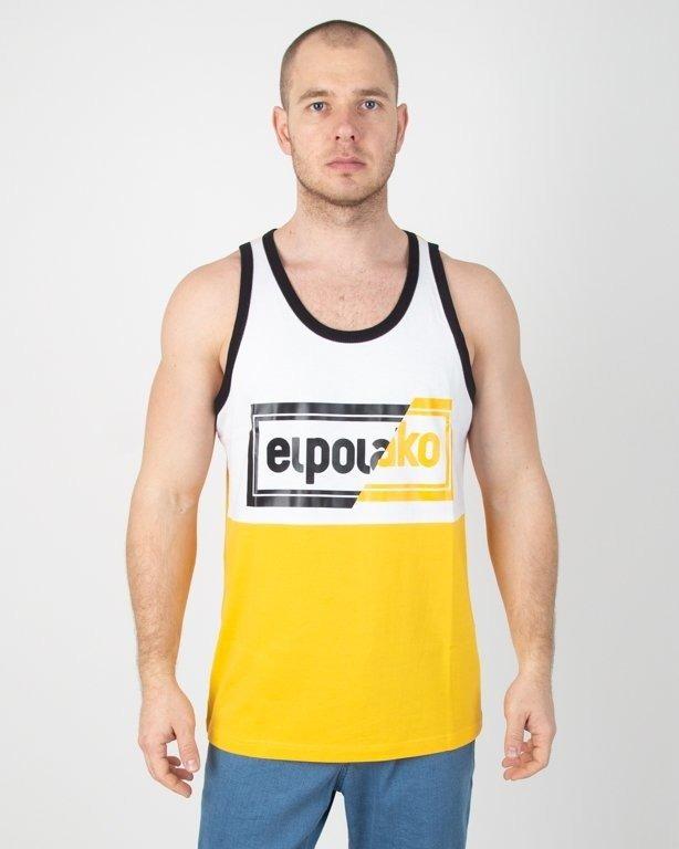 Koszulka El Polako Tank Top Cut Color Yellow-White