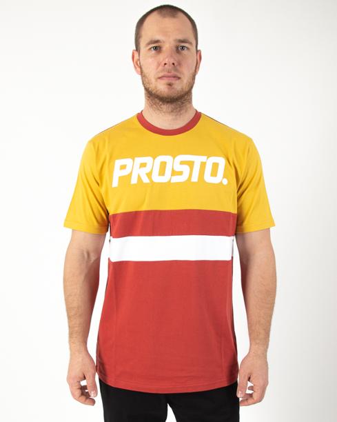 Koszulka Prosto Ami Yellow-Bordo