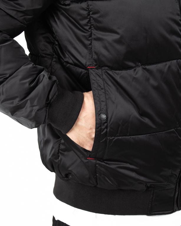 Kurtka Pitbull Padded Hooded Walpen Black